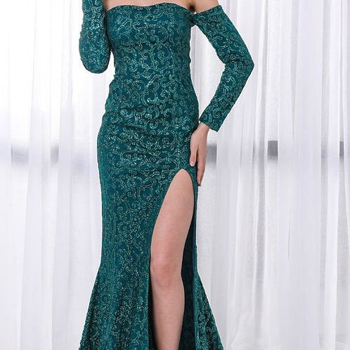 Emerald Green Sequin Gown