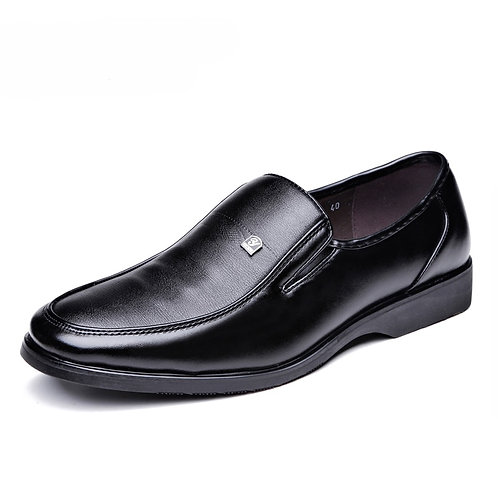 Classic Man Round Toe Dress Shoes Cow Leather