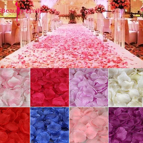 5000 Piece/Lot 5*5cm Romantic Silk Rose Petals for Wedding Decoration