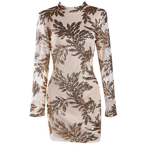 Sequin Mesh Sequin Dress