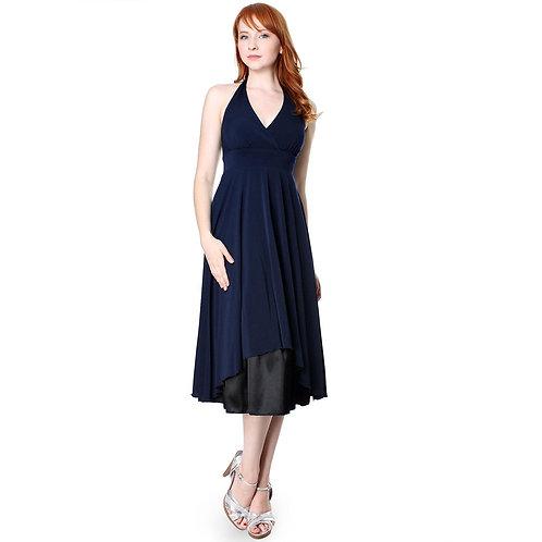 Women's Polyester  v Halter Neck a Line Cocktail Dress