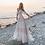 Thumbnail: Spaghetti Straps Beach Wedding Dress Nude Champagne
