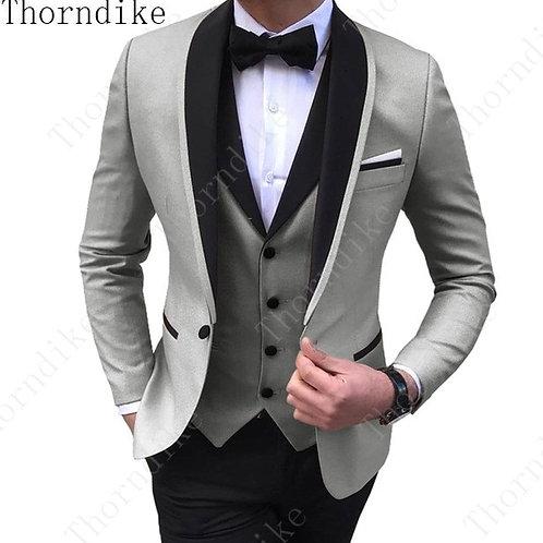 (Jacket+Vest+Pants) Mens Wedding Suit