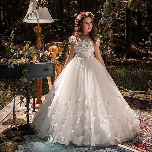Lace Ball Gown Flower Girl Dresses for Weddings
