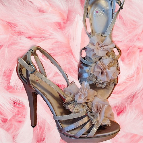 D Heart strappy sandals 5 inch heels platform shoes