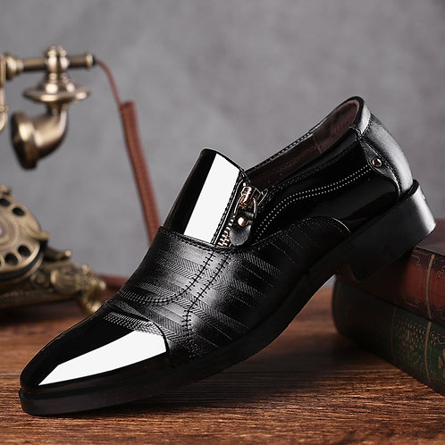 Leather Slip on Dress Shoes Men Oxfords