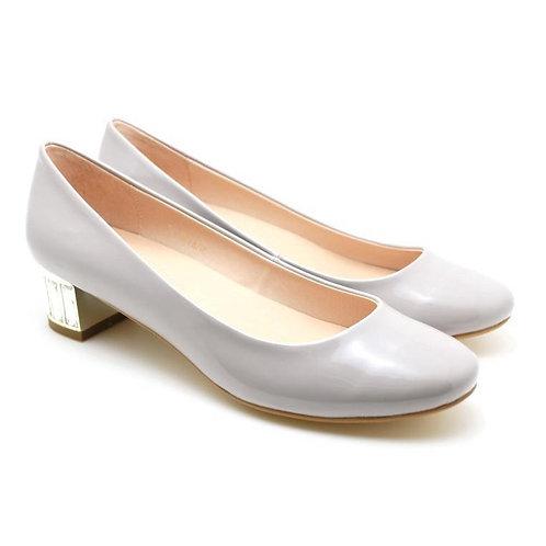 Rhinestones Heel Dress Pumps (Light Grey)
