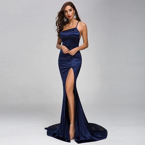 Blue Elegant Evening Gown