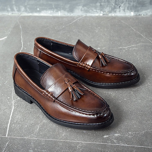 Handmade Brogue Style Leather Wedding Shoes Men