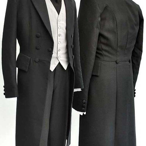 Black Men Wedding Tailcoat Groom Tuxedos