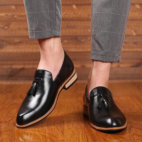 Men Dress Shoes Gentlemen British Style Leather Wedding Shoes Men Flats Leather