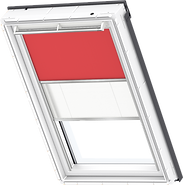VELUX Duo Blind - Flash Red / White - 4572/1016