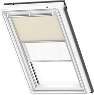VELUX Duo Blind - Beige / White - 4556/1016