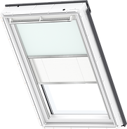 VELUX Duo Blind - Pale Blue / White - 4555/1016