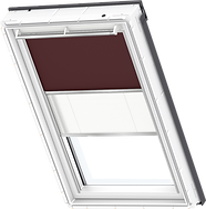 VELUX Duo Blind - Dark Brown / White - 4559/1016