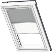VELUX Duo Blind - Grey / White - 0705/1016