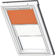 VELUX Duo Blind - Orange / White - 4564/1016