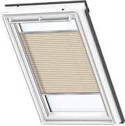 VELUX Pleated Blind - Lovely Latte 1261