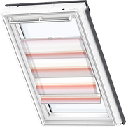 VELUX Designer Roman Blinds - Red Dim Out 6522