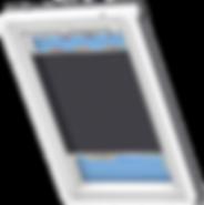 VELUX Pleated Blind - Metallic Blue 1265