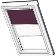 VELUX Duo Blind - Dark Purple / White - 4561/1016