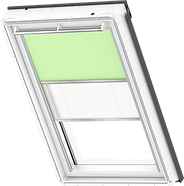 VELUX Duo Blind - Pale Green / White - 4569/1016