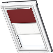 VELUX Duo Blind - Dark Red / White - 4560/1016