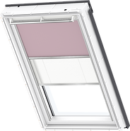 VELUX Duo Blind - Pale Pink / White - 4565/1016