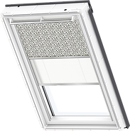 VELUX Duo Blind - Graphic Pattern / White - 4573/1016