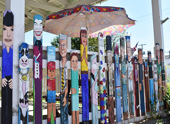 Carrollton Arts Center Fence Paintings R
