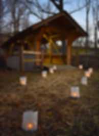Bears Mill Covered Bridge at Candle Walk