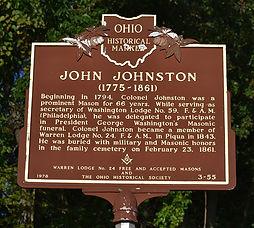 John Johnston Historical Marker in Piqua