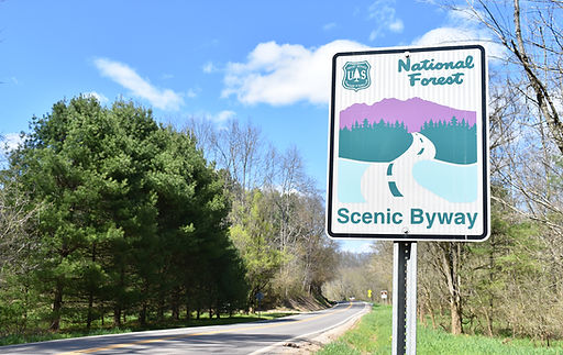 National Forest Scenic Byway Signage in