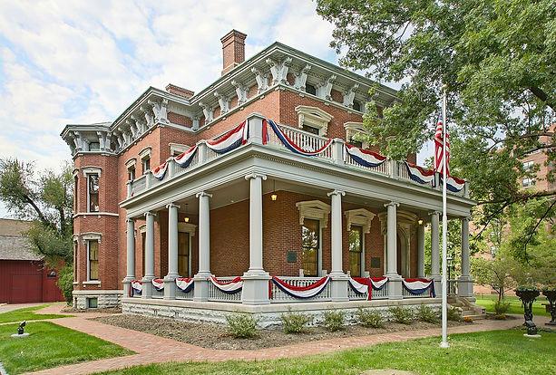 Benjamin Harrison House, Public Domain,