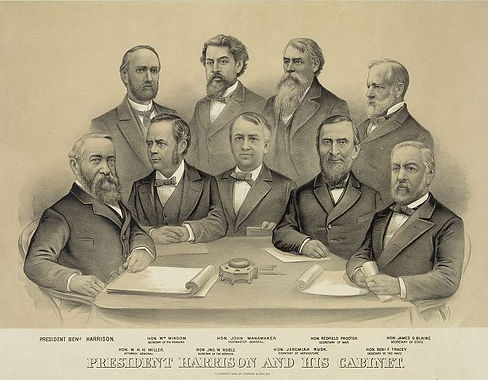 President Harrison and His Cabinet Libra