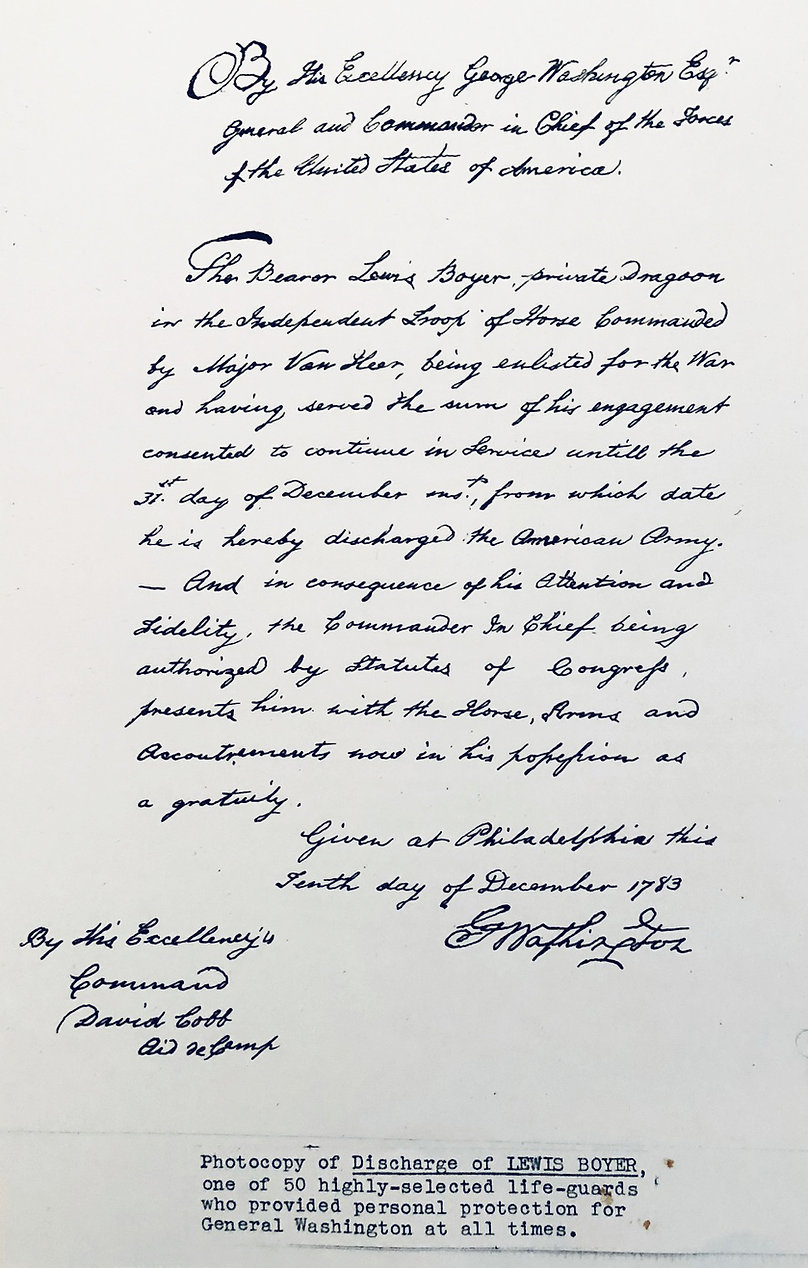 Boyer Bodyguard Signed by George Washing