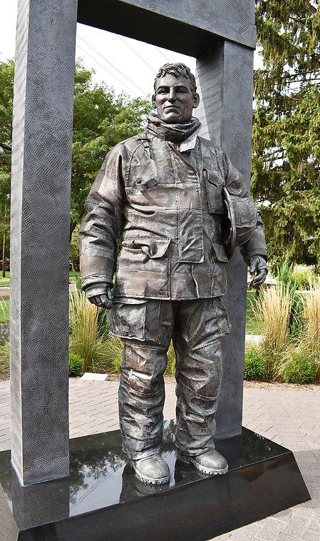 Westerville Firefighter at 911 Memorial.JPG