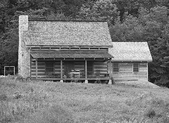 Walker Cabin Farm - black and white home