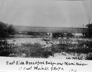 The picture of a side view of the bridge shows what was probably at or near the military e