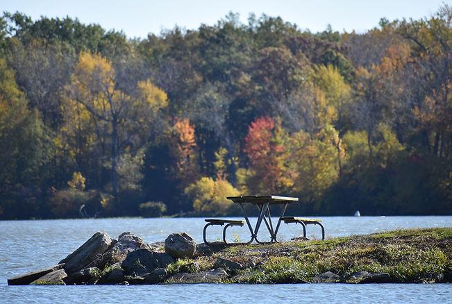 Lake Loramie Fall Picnic Spot.JPG