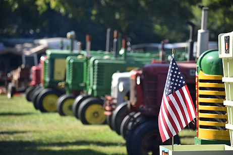 Poor Farmers Tractors with American Flag
