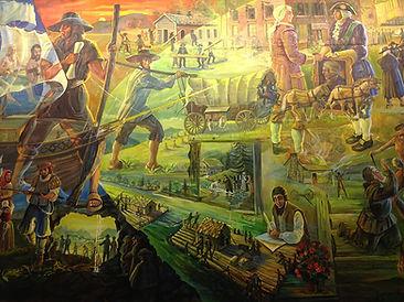 Mural at the Amish and Mennonite Heritag