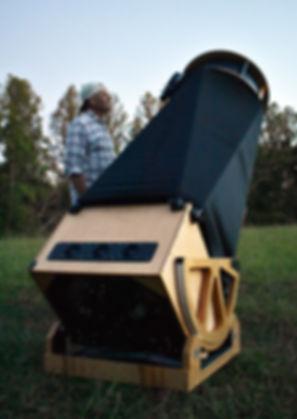 Drew and His Telescope Face Shot Calhoun