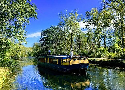 Genearl Harrison Canal Boat in the Fall.