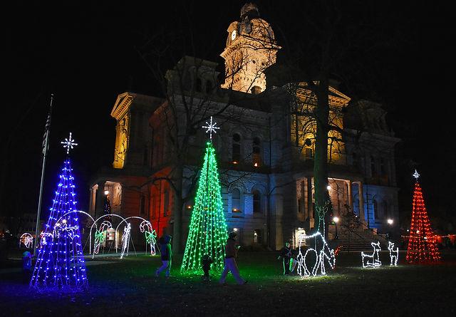 Sidney Winter Wonderland Courthouse with Lights On 1.jpg