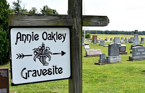 Annie Oakley Grave Marker Greenville.JPG