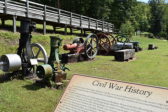 Burning Springs with Civil War Sign.jpg