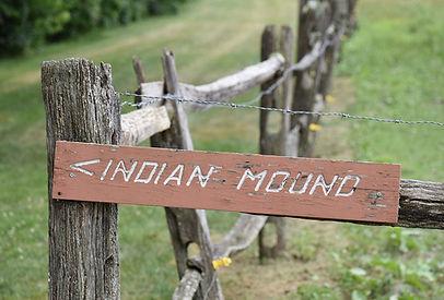 Indian Mound Signage at Johnston Farm Pi