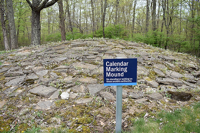 Calendar Marking Mound with Rocks On Top
