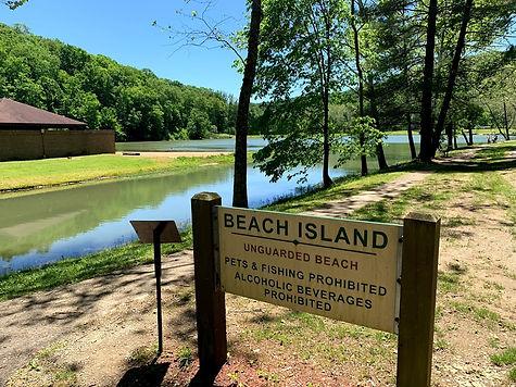 Beach Island Sign at Pike Lake.jpg